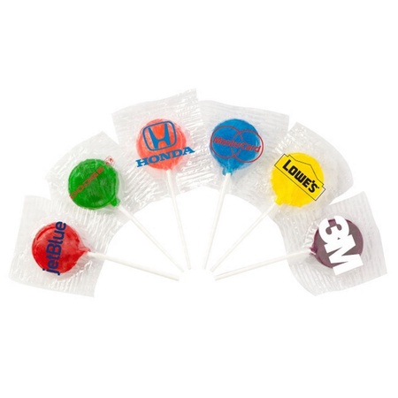 Lollipops with Imprinted Wrapper