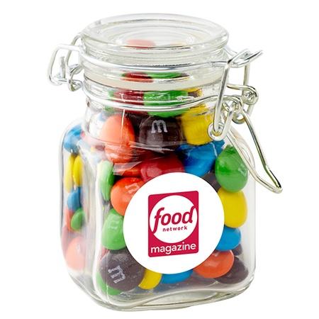 M&M's® in Mini Glass Hinge Top Jar