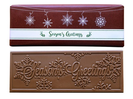 Season's Greeting Chocolate Bar