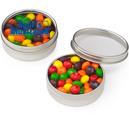 Skittles® Tins with Personalized Clear Lid