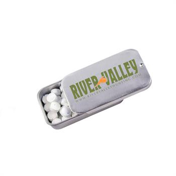 Slider Tins of White Mints