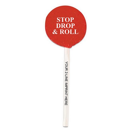Stop Drop & Roll Fire Safety Lollipop