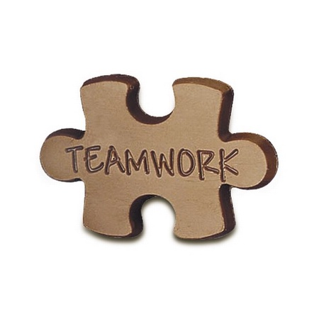 Teamwork Chocolate Puzzle Piece