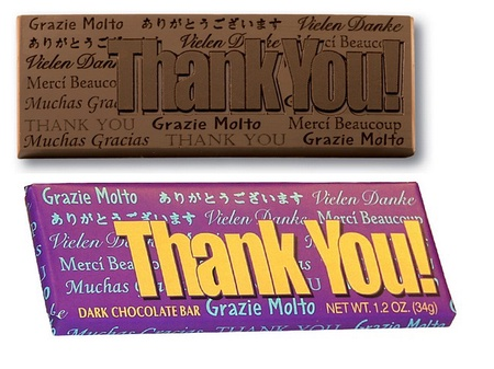 Thank You Chocolate Bar
