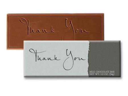 Thank You in Cursive Chocolate Bar