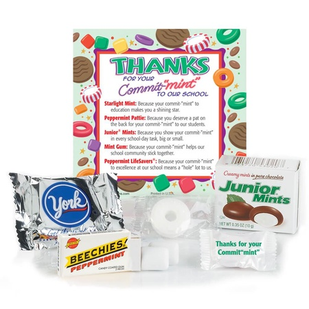 "Thanks For Your Commit-""Mint"" To Our School Treat Pack"