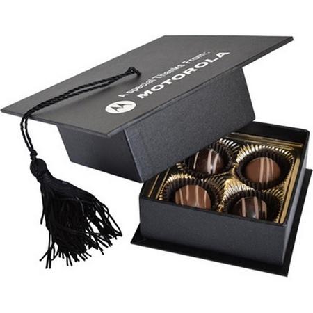 Truffles in Graduation Cap Box