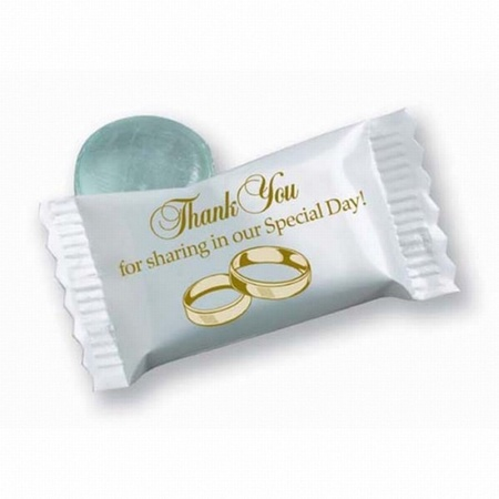 Wedding Clear Mint Wrapped Candies