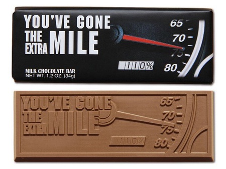 You've Gone The Extra Mile Chocolate Bar