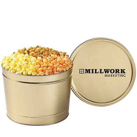 1-1/2 Gallon 3 Way Popcorn Tin