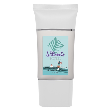 Personalized 1 oz. SPF 30 Sunscreen Lotion Tube
