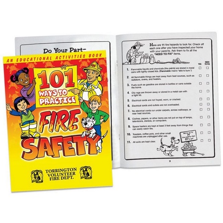 101 Ways To Practice Fire Safety Activities Book with Personalization