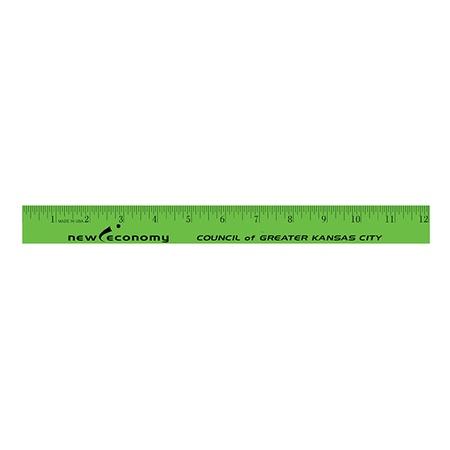 "Personalized 12"" Enamel Wood Rulers"