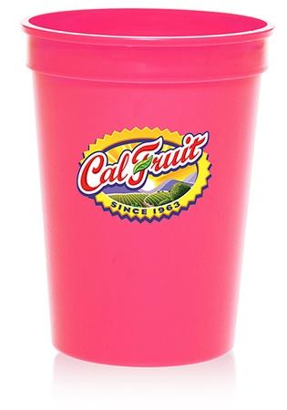 12 oz. Promotional Plastic Stadium Cups