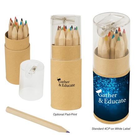 Custom 12-Piece Colored Pencil Tube & Sharpener