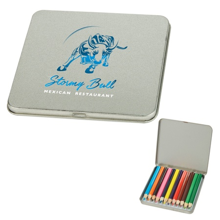 12-Piece Colored Pencil in Custom Tin