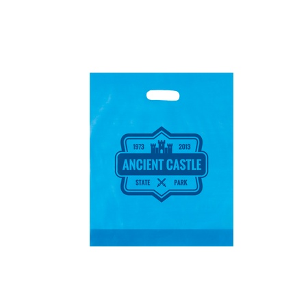 "Frosted Die-Cut 15"" x 18"" x 4"" Promotional Bags"
