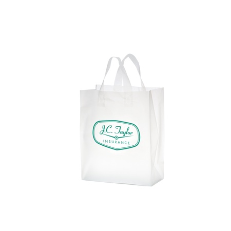 "Frosted Die-Cut 8"" x 4"" x 11"" Promotional Bags"