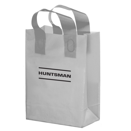 Color Frosted 10 x 5 x 13 Promotional Shopper Bags