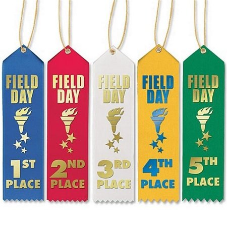 1st-5th Place Field Day Award Ribbons - 50-Piece Assortment