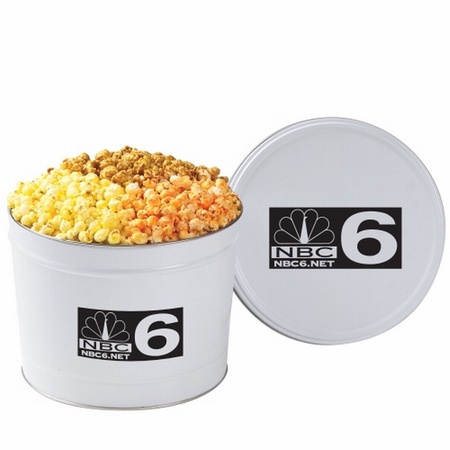 Custom 2 Gallon 3-Way Popcorn Tin