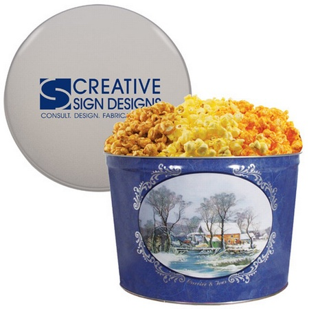 3-Way Popcorn Tins - 2 Gallon