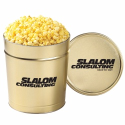 3-1/2 Gallons of Classic Popcorn In Custom Tins