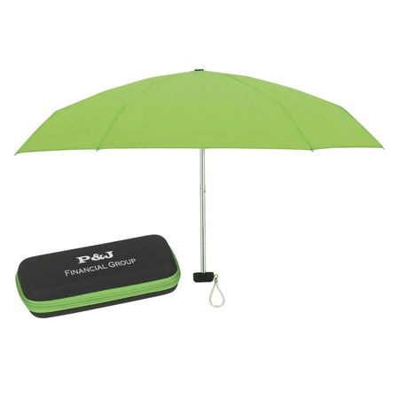 "37"" Arc Folding Travel Umbrella with Case"