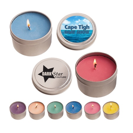 4 oz. Scented Candle in Custom Round Tins