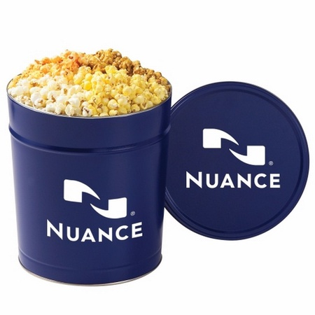 4 Way Popcorn Tin - 3-1/2 Gallon