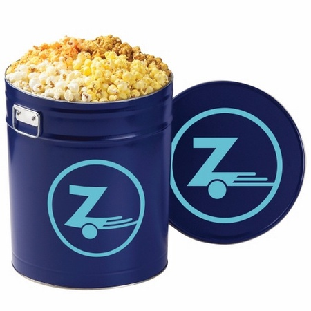 4 Way Popcorn Tin - 6-1/2 Gallon