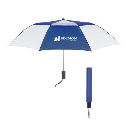 "44"" Telescopic Folding Vented Umbrella"