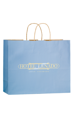 "Matte 16"" x 6"" x 13"" Personalized Shopping Bags"