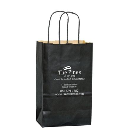 Matte Shopping Bags - 5 x 3-1/2 x 8