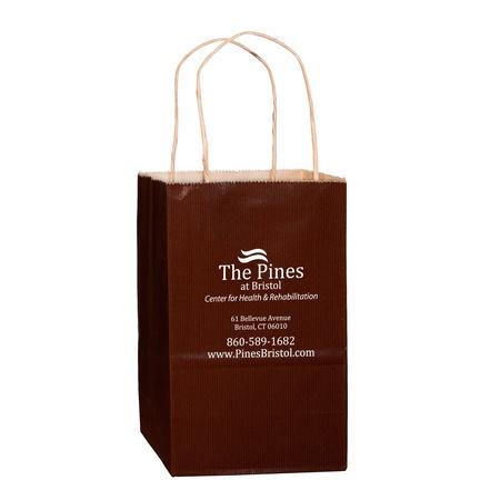 """Matte 5"""" x 3-1/2 x 8"""" Custom Shopping Bags"""