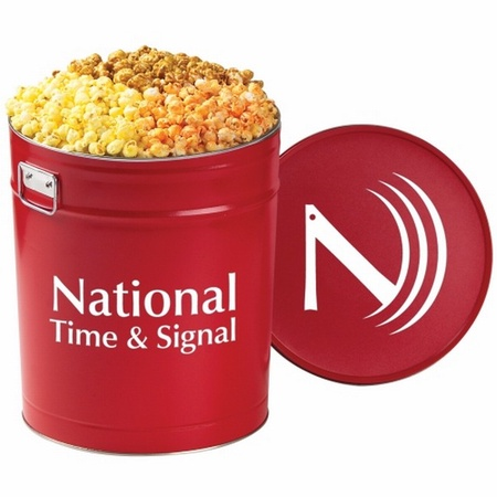 Custom 6-1/2 Gallon 3-Way Popcorn Tins