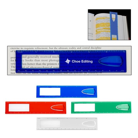 """6"""" Magnifier Ruler with Imprint"""