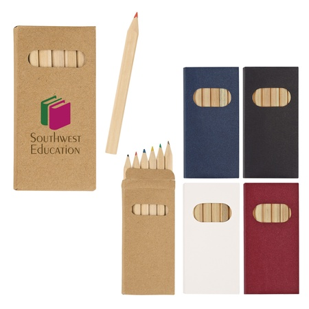 6-Piece Colored Promotional Pencil Set
