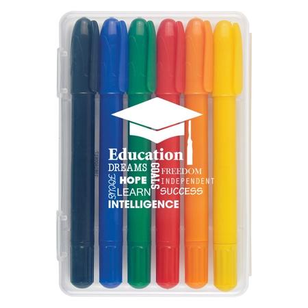 6-Piece Retractable Crayons In Custom Case