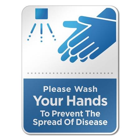"""6"""" x 8"""" Hand Wash Reminder Signs"""
