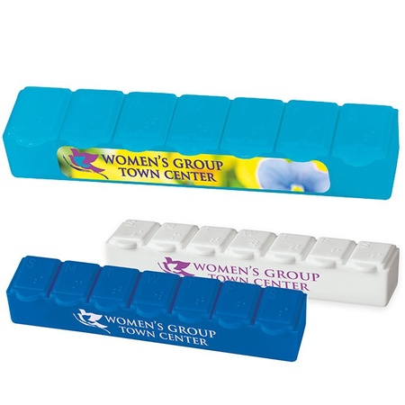 Personalized 7-Day Strip Pill Boxes