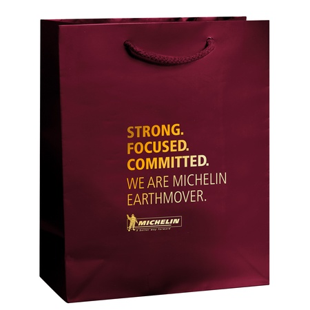 "Gloss 8"" x 4"" x 10"" Promotional Shopping Bags"