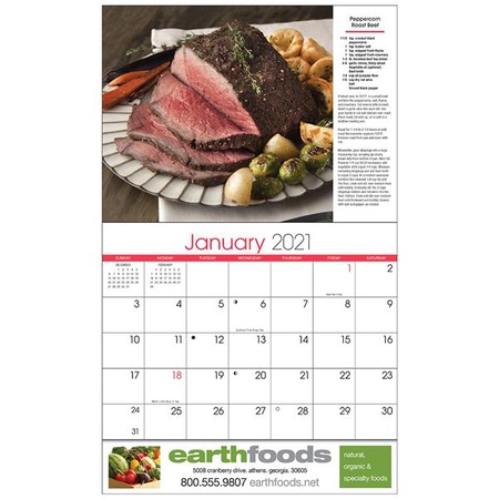 A Taste for Cooking Personalized 2021 Wall Calendars