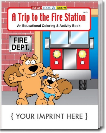 A Trip To The Fire Station Coloring & Activities Book