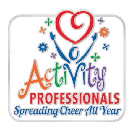 Activity Professionals Lapel Pins with Gift Cards