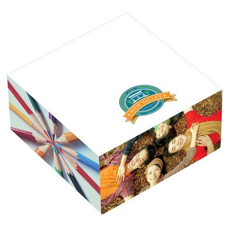"""3"""" x 3"""" x 1-1/2"""" Promotional Adhesive Cubes"""