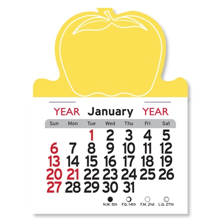 Adhesive Peel-N-Stick Apple Shape 2022 Calendars