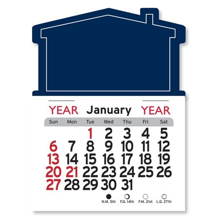 Adhesive Peel-N-Stick House Shape 2021 Calendars