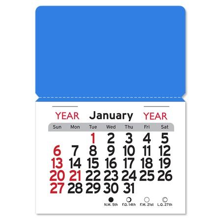 Adhesive Peel-N-Stick Rectangle 2022 Calendars