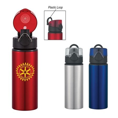 25 oz. Custom Aluminum Sports Bottle with Flip Top Lid